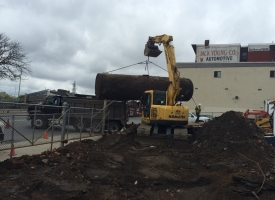 Removing Underground Storage Tank